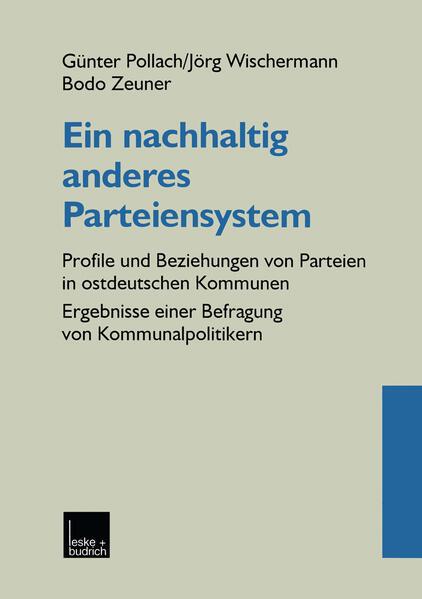Ein nachhaltig anderes Parteiensystem - Coverbild