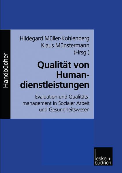 Qualität von Humandienstleistungen - Coverbild