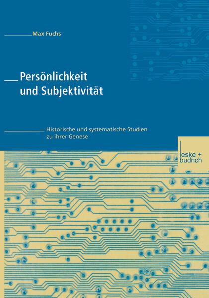 Persönlichkeit und Subjektivität - Coverbild