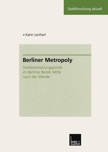 Berliner Metropoly - Coverbild