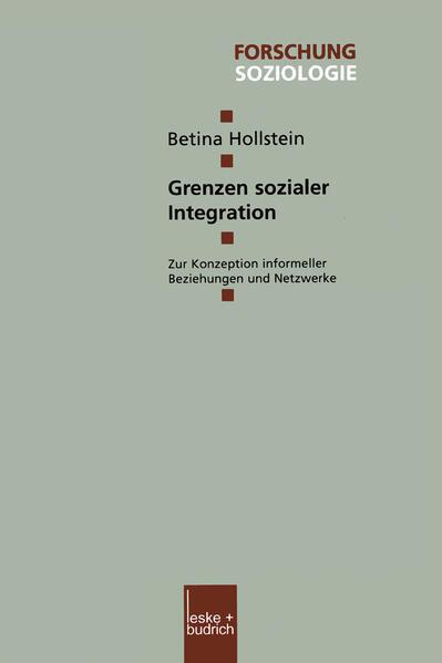 Grenzen sozialer Integration - Coverbild