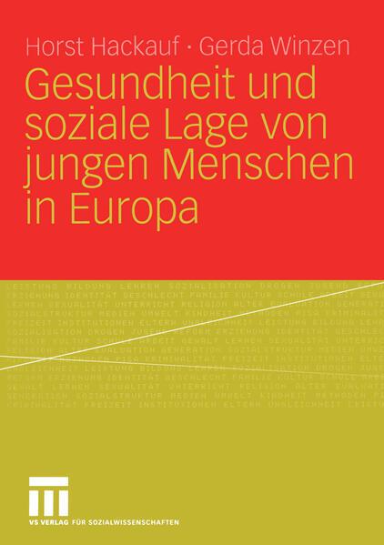 Gesundheit und soziale Lage von jungen Menschen in Europa - Coverbild