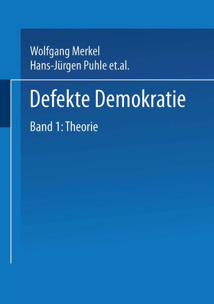 Defekte Demokratie - Coverbild