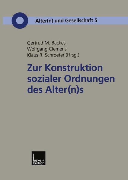 Zur Konstruktion sozialer Ordnungen des Alter(n)s - Coverbild