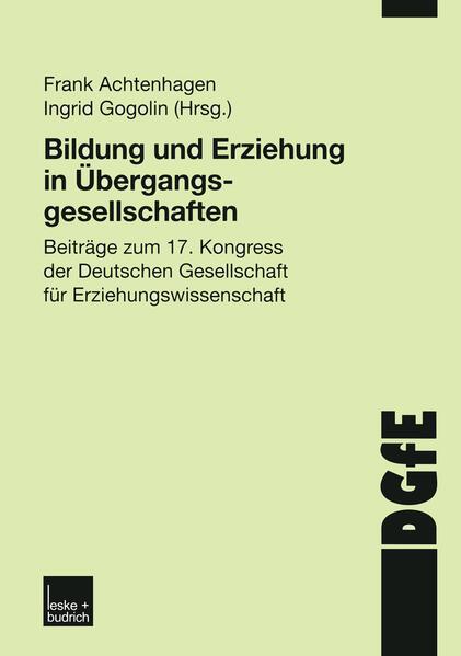 Bildung und Erziehung in Übergangsgesellschaften - Coverbild