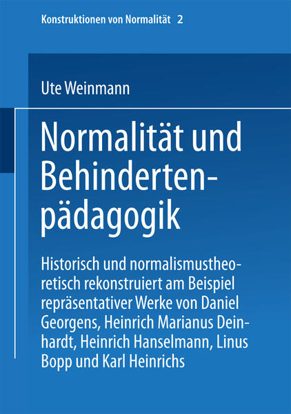 Normalität und Behindertenpädagogik - Coverbild
