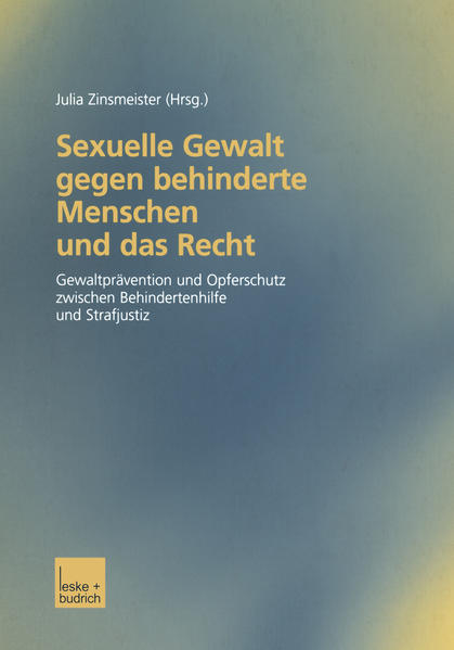 Sexuelle Gewalt gegen behinderte Menschen und das Recht - Coverbild