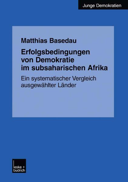 Erfolgsbedingungen von Demokratie im subsaharischen Afrika - Coverbild