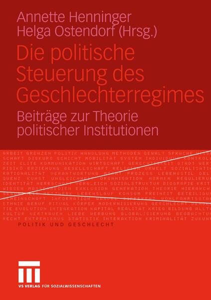 Die politische Steuerung des Geschlechterregimes - Coverbild
