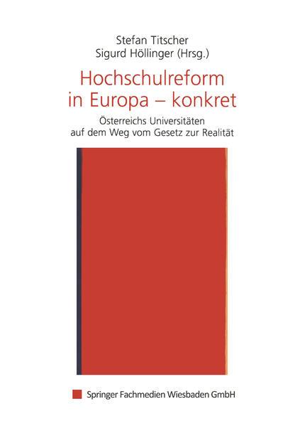 Hochschulreform in Europa — konkret - Coverbild