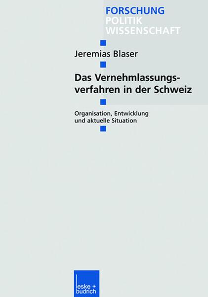Das Vernehmlassungsverfahren in der Schweiz - Coverbild