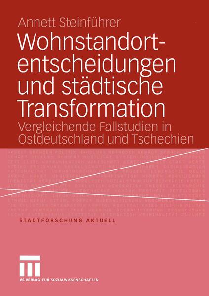 Wohnstandortentscheidungen und städtische Transformation - Coverbild
