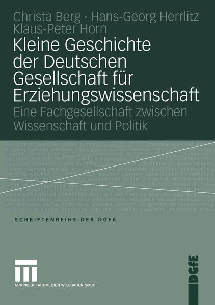 Kleine Geschichte der Deutschen Gesellschaft für Erziehungswissenschaft - Coverbild