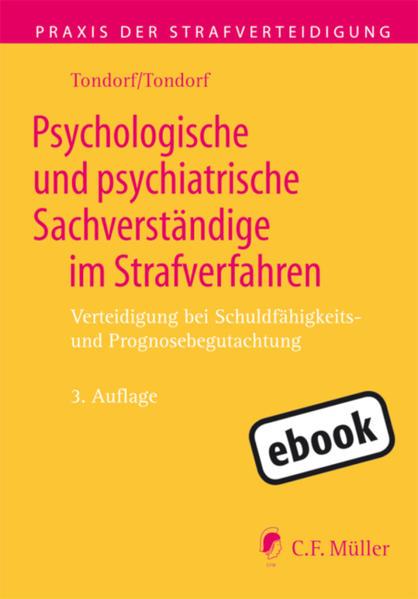 Psychologische und psychiatrische Sachverständige im Strafverfahren - Coverbild