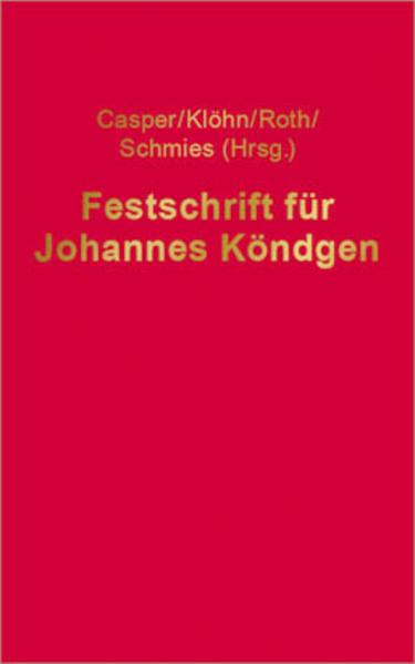 Festschrift für Johannes Köndgen - Coverbild