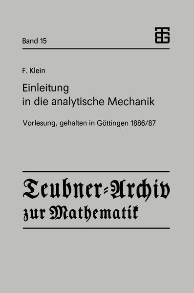 Einleitung in die analytische Mechanik - Coverbild