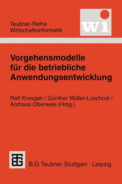 Vorgehensmodelle für die betriebliche Anwendungsentwicklung - Coverbild