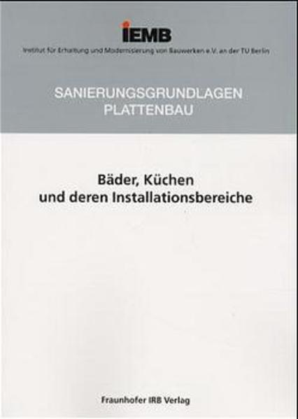 Bäder, Küchen und deren Installationsbereiche. PDF Herunterladen