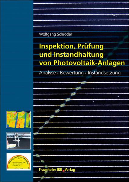 Inspektion, Prüfung und Instandhaltung von Photovoltaik-Anlagen. - Coverbild
