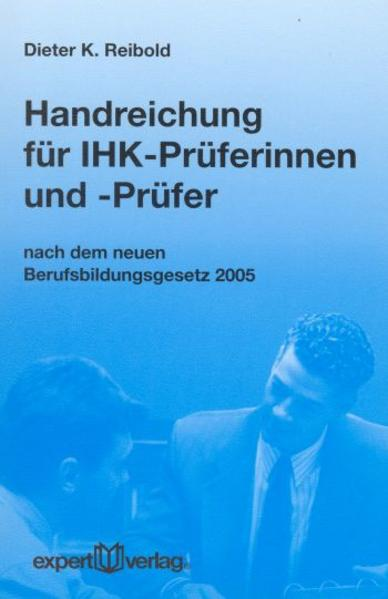 Handreichung für IHK-Prüferinnen und -Prüfer - Coverbild