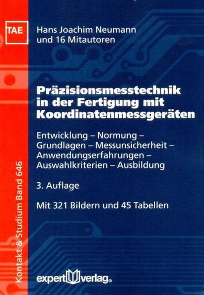 Präzisionsmesstechnik in der Fertigung mit Koordinatenmessgeräten - Coverbild