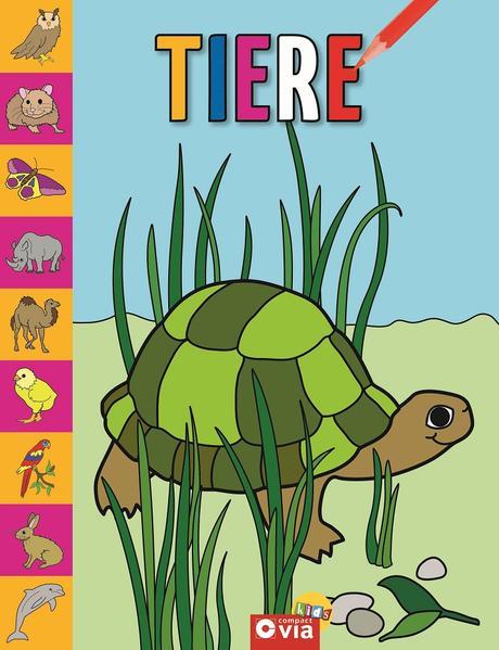 Tiere-Malbuch - Coverbild
