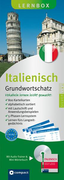 Italienisch Grundwortschatz Compact Lernbox - Coverbild