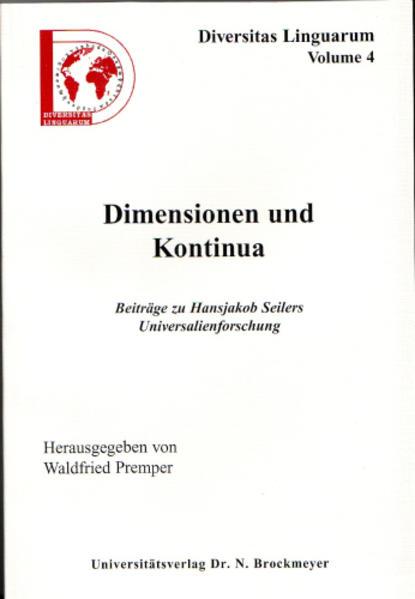 Dimensionen und Kontinua - Coverbild