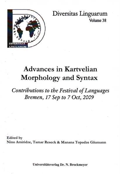 Advances in Kartvelian Morphology and Syntax - Coverbild