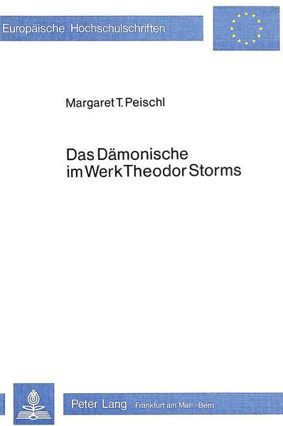Das Dämonische im Werk Theodor Storms - Coverbild