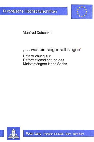 '...was ein singer soll singen' - Coverbild