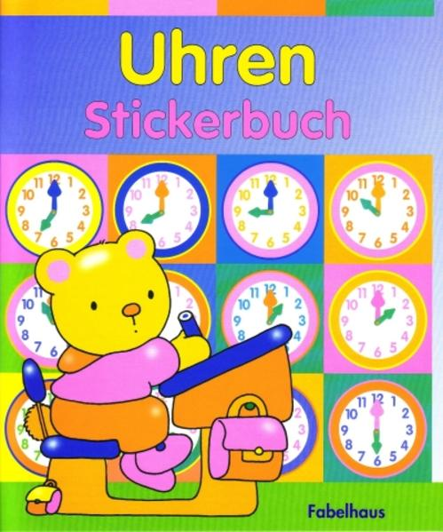 Uhren Stickerbuch - Coverbild