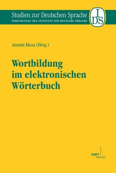 Wortbildung im elektronischen Wörterbuch - Coverbild