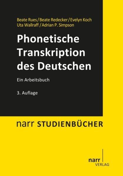 Phonetische Transkription des Deutschen - Coverbild
