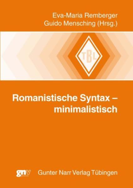 Romanistische Syntax - minimalistisch - Coverbild