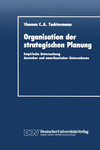 Organisation der strategischen Planung - Coverbild