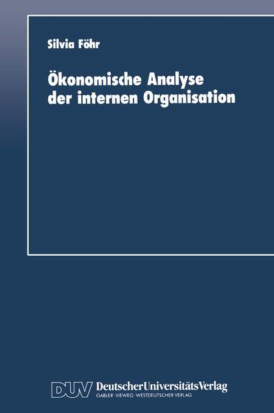 Ökonomische Analyse der internen Organisation - Coverbild