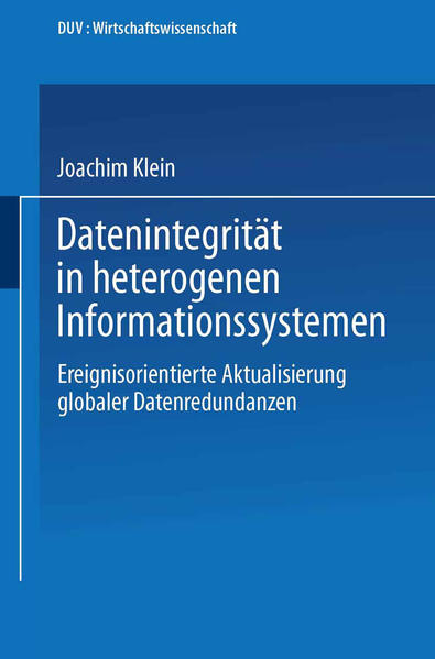 Datenintegrität in heterogenen Informationssystemen - Coverbild