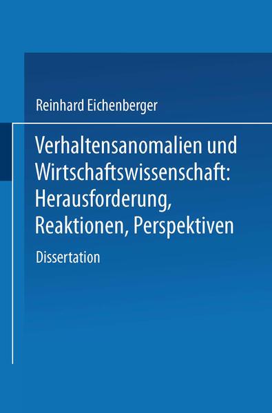 Verhaltensanomalien und Wirtschaftswissenschaft - Coverbild