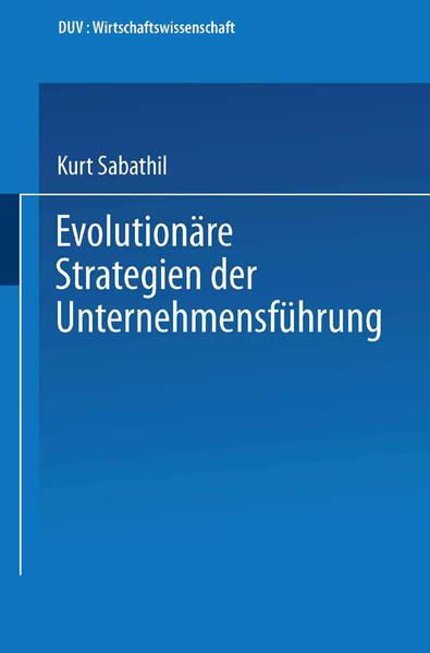 Evolutionäre Strategien der Unternehmensführung - Coverbild