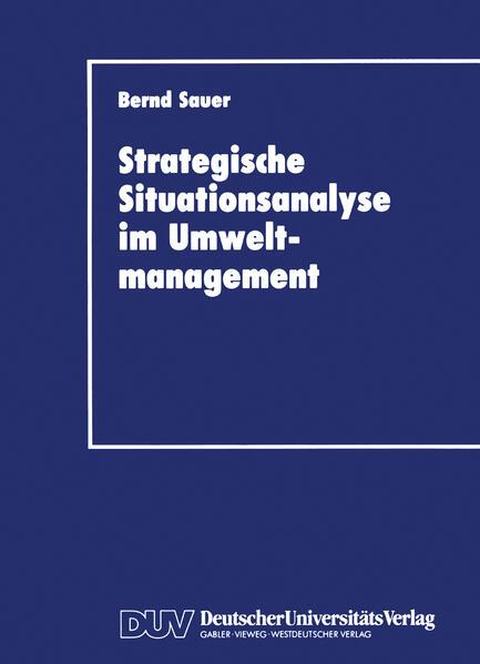 Stragegische Situationsanalyse im Umweltmanagement - Coverbild