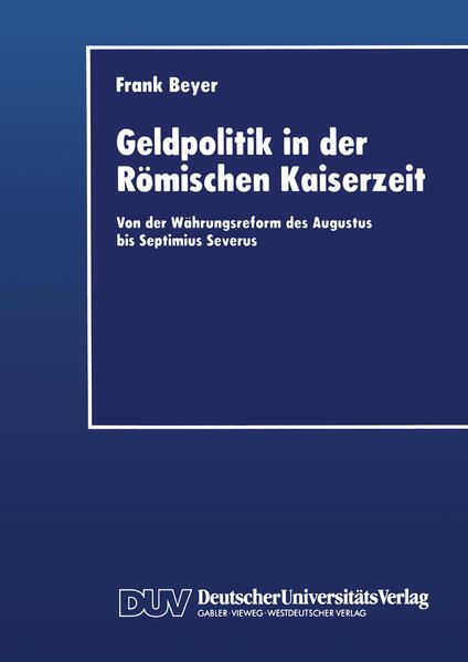 Geldpolitik in der Römischen Kaiserzeit - Coverbild