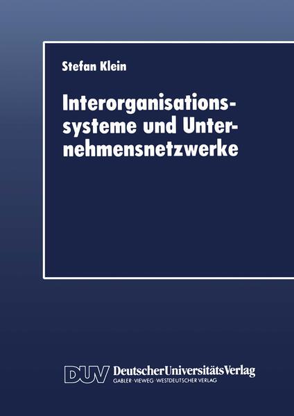 Interorganisationssysteme und Unternehmensnetzwerke - Coverbild