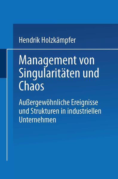 Management von Singularitäten und Chaos - Coverbild