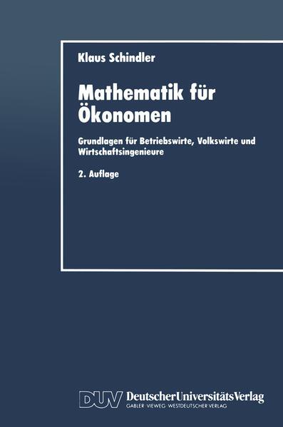 Mathematik für Ökonomen - Coverbild