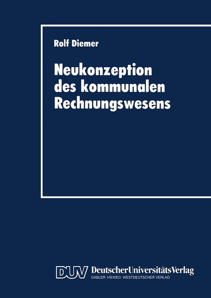 Neukonzeption des kommunalen Rechnungswesens - Coverbild