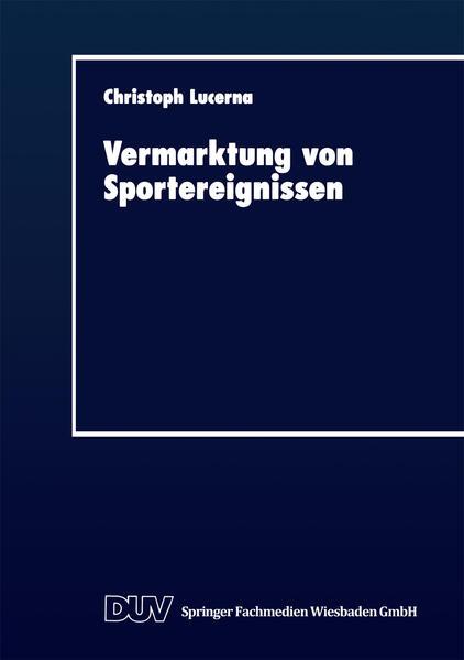 Vermarktung von Sportereignissen - Coverbild