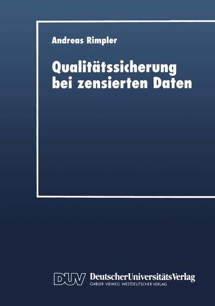 Qualitätssicherung bei zensierten Daten - Coverbild