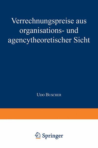 Verrechnungspreise aus organisations- und agencytheoretischer Sicht - Coverbild