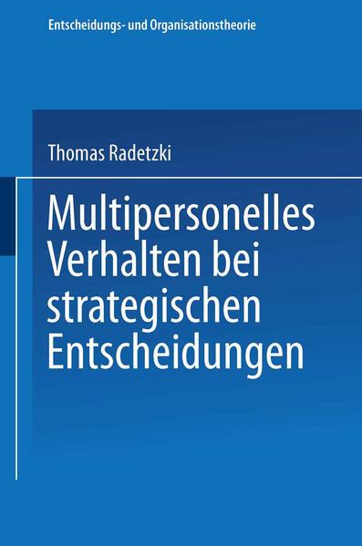 Multipersonelles Verhalten bei strategischen Entscheidungen - Coverbild